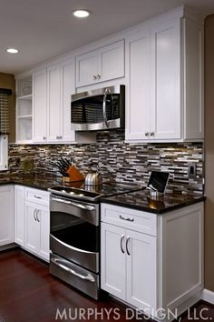 Tips, techniques, also manual with regards to obtaining the most effective result and also attaining the optimum use of Small Kitchen Renovation Diy Kitchen Cabinets, Kitchen Redo, Home Decor Kitchen, Kitchen Countertops, New Kitchen, Home Kitchens, Kitchen Design, Glass Kitchen, Black Countertops White Cabinets
