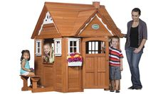 Outdoor Wooden Cedar Cottage Play House for Kids | Backyard Discovery