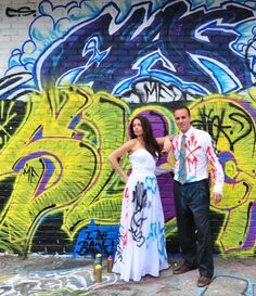 Cedarwood Weddings Day After Trash The Dress Graffiti Party | Cedarwood Weddings