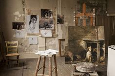 Andrew Wyeth's studio in Chadds Ford, Pennsylvania