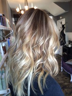 Avedacolor ombré and bayalage blonde holliskinghair