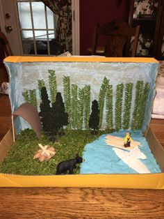 Hatchet Diorama Hatchet Activities, Class Activities, Teaching 5th Grade, 5th Grade Reading, Hatchet Book, Hatchet Gary Paulsen, Life Skills Classroom, Book Reports, Author Studies