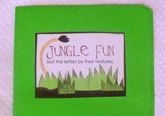 letter size sort folder game