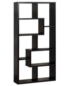 "Highpoint Contoured Bookcase - Black 71x35x12""  avg 3/5 reviews"