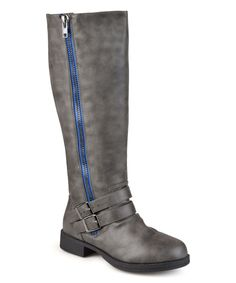 Love this Journee Collection Gray Lady Extra Wide-Calf Boot by Journee Collection on #zulily! #zulilyfinds extra wide calf boots for women, check to see different sizes, colour and designs.
