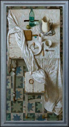 Kenne Gregoire. Appeltje - eitje - 160 x 80 cm - acryl op linnen - 2012