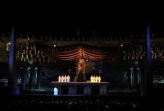 Arena di Verona.  Aida, opera in 4 acts by Giuseppe Verdi.  Libretto by Antonio Ghislanzoni.    Aida is on stage for the 90th Arena di Verona Opera Festival 2012.   For further information or reservations: Call center (+39) 045 800.5151 and www.arena.it