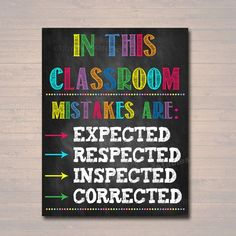 Classroom Decor Mistakes Are Proof You're Trying Poster #classroomdecor