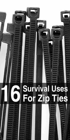 Zip ties, also known as cable ties, are small, light, and incredibly useful. They're well worth adding to your bug out bag and other supplies. #zipties #usesforzipties #cableties #survivalhacks #survivaltips