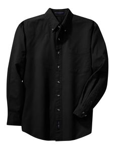 Port Authority Mens Cotton Twill Long Sleeve Button Down Shirt S600T