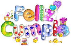 Letras decoradas para feliz cumpleanos