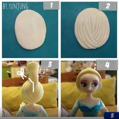 Elsa Fondant Figurine Tutorial It is in fondant but we can make this with clay as well. Have fun!