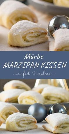 Soft pistachio marzipan pillow with curd batter. The pistachio marzipan pillow is . Soft pistachio marzipan pillow with curd batter. The pistachio marzipan pillow is . - Soft pistachio marzipan pillow w. Cookie Recipes, Snack Recipes, Dessert Recipes, Snacks, Drink Recipes, Easy Recipes, Queijo Cottage, Pumpkin Spice Cupcakes, Eclairs