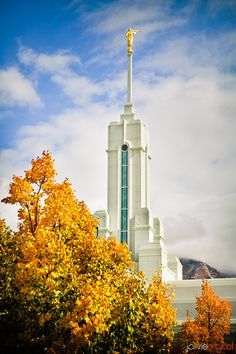Mt Timpanogos LDS Temple - Fall Day