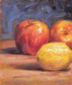 """Apples & Lemon"" by Peter Zambas http://www.ugallery.com/peter-zambas"