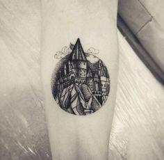 Greyscale Hogwarts Tattoo More