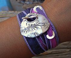 Unique Jewelry, Silk Wrap Bracelet, copyright by www.HappyGoLickyJewelry.com, $49.50