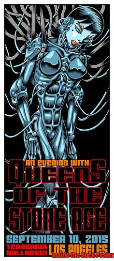 Jim Evans TAZ Queens of the Stone Age Los Angeles Poster For Secret Show World…