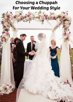 A Chuppah (Huppah) to Fit Your Wedding Style | Jewish Weddings - Read More: A Huppah to Fit Your Wedding Style www.mazelmoments.com/blog/17387/chuppah-huppah-jewish-wedding-style/ #Jewish #Wedding #Chuppah