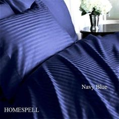 """Homespell Egyptian Cotton 1000 Thread Count Sateen Stripe 4 Pc Comforter Set - Navy Blue Full.(WITH BONUS """"PILLOWCASE"""" EXTRA) by Homespell. $170.99. Machine wash cold or warm, tumble dry on low.. Sleep in luxurious 300 thread count comfort with this down alternative white comforter. 100% Egyptian Cotton. Full/Queen set measures 90"""" W x 92"""" L and includes two standard shams 20x26"""" each.. 1000 thread count 4 - Pcs set. Luxurious white down Alternative comforters f..."""