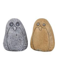 Another great find on #zulily! Cement Owl Rock - Set of Two #zulilyfinds
