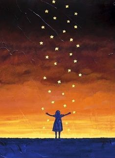 #stars #sunset