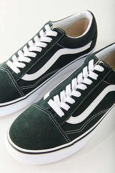 8a039cc6a6af69 Slide View  1  Vans Classic Old Skool Sneaker color  dark green size 7.5