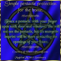Pentacle protection for the home spell