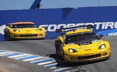 Corvette Racing finishes 1-2 at the American Le Mans Series at Monterey.  (Photo Credit: Drew Phillips / AOL)