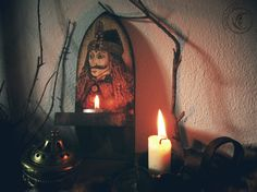Wall candle holder Vlad Tepes by Lalunaenunhilo on Etsy