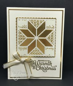 LOVE the Christmas Quilt Bundle from the Stampin' Up! Holiday Catalog! Check out the tips & tricks video I did - you'll be a happy quilter! #stampinBJ.com
