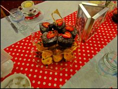 vintage tea party for a hen party: Heart shaped chocolate brownies and scones Tea Party Menu, Tea Party Theme, Party Themes, Vintage Tea Parties, Heart Shaped Chocolate, Victoria Sponge Cake, Lemon Drizzle Cake, Afternoon Tea Parties, Party Places