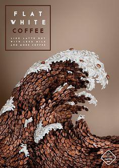 Coffee shop poster by illustrator Strautniekas