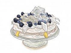 Pavlova s citrónovou zmrzlinou a želé kockami Petra, Pavlova, Sweet Recipes, Decorative Bowls