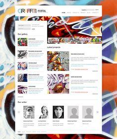 Graffiti Art Joomla Template by Html5 Web Templates, via Behance