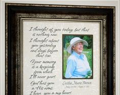 Personalized In Memory Of Memorial Frame Remembrance Thank You Gift For Parents, Wedding Thank You Gifts, Wedding Gifts For Parents, Mother Of The Groom Gifts, Mother In Law Gifts, Remembrance Quotes, Remembrance Gifts, Sympathy Poems, Sympathy Gifts