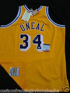 Official Shaquille O'Neal Shaq Mitchell & Ness Lakers Signed Jersey Auto PSA/DNA 5A53881