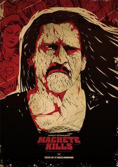 MACHETE KILLS alternative poster art by Harry Grundmann www.harrymovieart.com