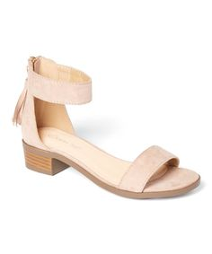 Taupe Vision Ankle-Strap Sandal