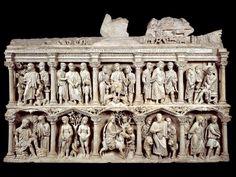 ***Sracófago de Iunius Bassus, 359. Roma, cripta del Vaticano.