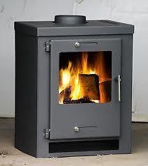 Wood Burning Multifuel Stove Contemporary 9kw Italia Wood Burner -Modern Stoves | eBay £229