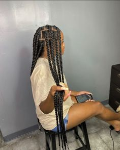 Big Box Braids Hairstyles, Black Girl Braids, Braided Hairstyles For Black Women, African Braids Hairstyles, Baddie Hairstyles, Braids For Black Hair, Weave Hairstyles, Curly Hair Styles, Natural Hair Styles