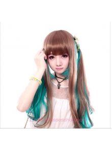 Lolita Brown Green Maid Cute Cosplay wig