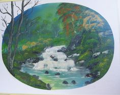 Landscape Painting Original Hand painted and by ALBERTSCRAFTS
