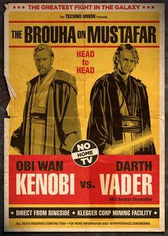 Wrestling Stars of the Past | Star Wars Retro Wrestling Posters