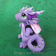 Dragon with Kitty Backpack by DragonsAndBeasties on Etsy