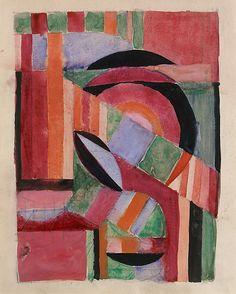 BAUHAUS ARCHIVE Metropolitan Museum. Gunta Stoltzl. Besides textiles, she also painted.