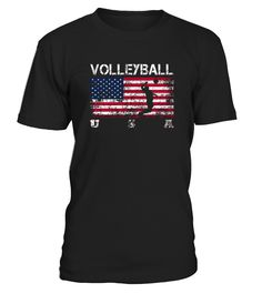 Volleyball Team Gift   American Flag Volleyball T shirt  Funny Volleyball T-shirt, Best Volleyball T-shirt