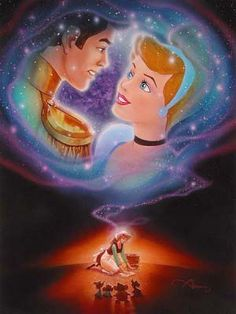 Disney Fine Art - Someday. Cinderella and Prince. Biggs Ltd. Gallery. Heirloom quality bridal, art, baby gifts and home decor. 1-800-362-0677. $425.