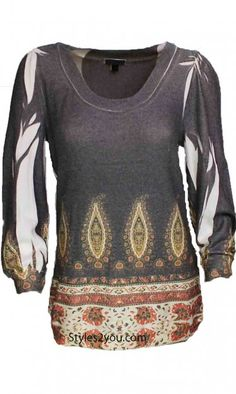 DB Sport Clothing Classy Round Neck 3/4 Sleeve Top